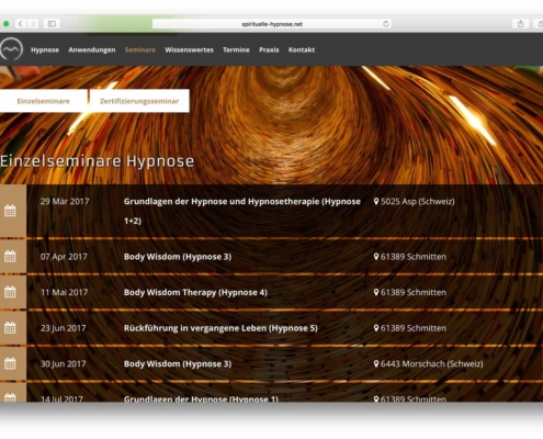 Spirituelle Hypnose Website